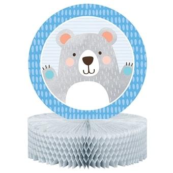 0d225531 Birthday Bear, Borddekoration i honeycomb